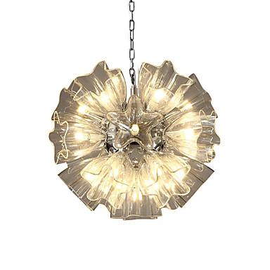 QIHengZhaoMing Lusteri Ambient Light Electroplated Metal Glass 110-120V / 220-240V Meleg fehér / Bijela
