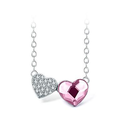 billige Mote Halskjede-Dame Halskjede Hjerte Small Kobber Rosa 40+5 cm Halskjeder Smykker 1pc Til Bursdag Gave Valentine Festival