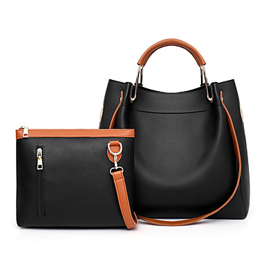 166d2b835 Women's Bags PU(Polyurethane) Bag Set 2 Pieces Purse Set Zipper Solid Color  Black. cheap Bag Sets-Women's ...