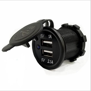 LOSSMANN Bilar / Lastbil / Motorcykel Billaddare 2 USB-portar för 5 V / vattenbeständigt / UV-resistent / Utomhus / Het / Stadsjeep