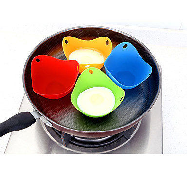 Kitchen,dining & Bar Creative Free Shipping Egg & Pancake Rings 1pc High Quality Silicone Egg Poacher Cook Poach Pods Kitchen Cookware Poached Baking Cup