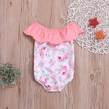 お買い得  赤ちゃんウェア-赤ちゃん 女の子 活発的 / ベーシック プリント プリント ノースリーブ コットン ボディスーツ レインボー