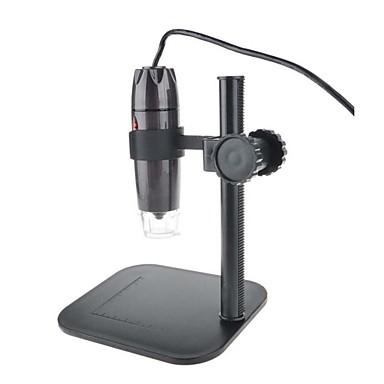 voordelige Microscopen & Endoscopen-Digital Electronic Microscope 800 x Usb Microscope Portable Industrial Textiles Testing Digitale microscoop 800X Smart Mini Inspectie