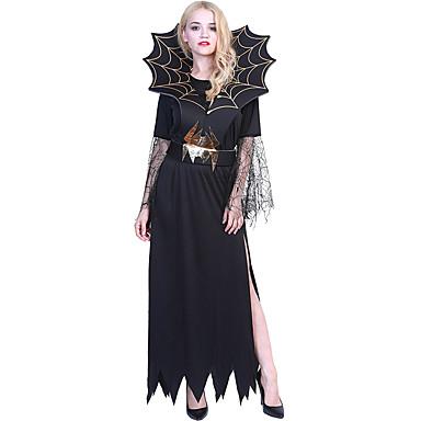 noita Mekot Cosplay-Asut Aikuisten Naisten Hameet Halloween Halloween Karnevaali Masquerade Festivaali / loma Teryleeni Musta Karnevaalipuvut Patchwork