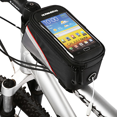 ROSWHEEL Cell Phone Bag / Bike Frame Bag 4.2 inch Touch Screen Cycling for Samsung Galaxy S6 / LG G3 / Samsung Galaxy S4 Black / iPhone 8/7/6S/6 / iPhone 8 Plus / 7 Plus / 6S Plus / 6 Plus
