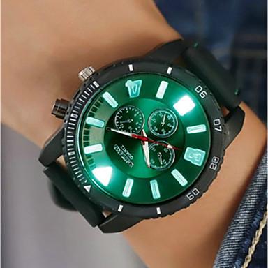 c016b389bada Hombre Reloj Digital Digital Silicona Negro   Blanco   Azul Creativo Nuevo  diseño Noctilucente Analógico Destello Casual - Rojo Verde Azul