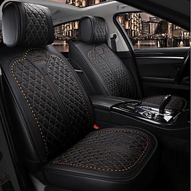 voordelige Auto-interieur accessoires-Crown vier seizoenen algemeen autostoelkussen, autostoelhoes voor 5-zits auto / pu leer / airbag compatibiliteit / verstelbaar en afneembaar / gezinsauto / suv