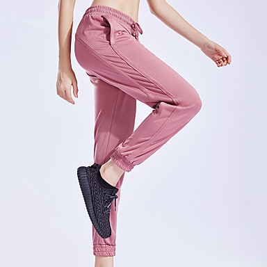 eb3b352372914 Women's Pocket Yoga Pants Sports Solid Color Elastane Bottoms Running  Fitness Activewear Lightweight Breathable Moisture Wicking