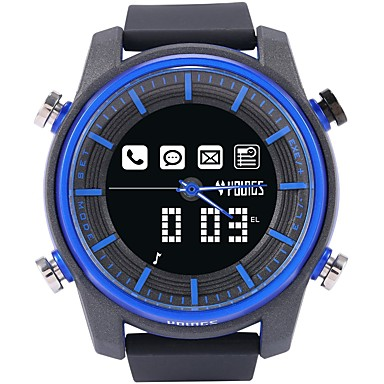 cheap Women's Watches-Couple's Digital Watch Japanese Digital Rubber Black 100 m Water Resistant / Waterproof Bluetooth LCD Analog - Digital Casual Fashion - Blue One Year Battery Life
