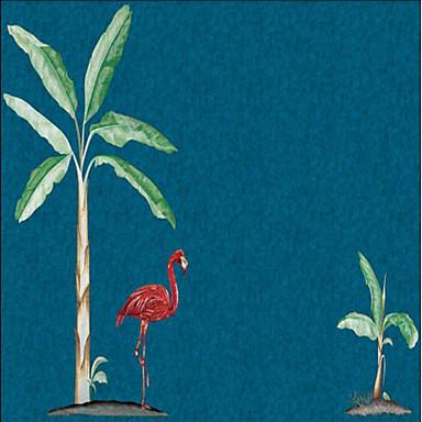 Nástěnná malba / Nástěnné látky Netkané textilie Wall Krycí - lepidlo požadováno stromy a listí / secesní motiv / 3D