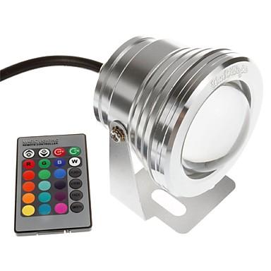 billige Utendørsbelysning-YouOKLight 1pc 10 W Undervannslys Fjernstyrt RGB 12 V Svømmebasseng 1 LED perler
