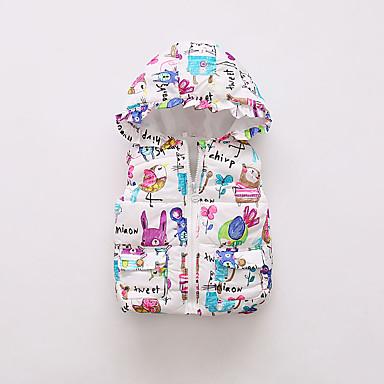 levne Dětské bundičky a kabátky-Dítě Dívčí Základní Tisk Standardní S podšívkou Námořnická modř / Toddler