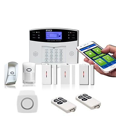 voordelige Bewaking & Beveiliging-PIR new wireless anti-theft alarm system gsm home anti-theft alarm door and window detection home alarm Thuis Alarmsystemen / alarm Host / Door & Window Sensor GSM iOS / Android Platform GSM