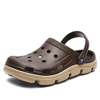 Miesten Comfort-kengät PU Kevät kesä Vapaa-aika Puukengät Hengittävä Color Block Musta / Ruskea / Sininen