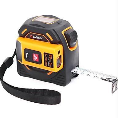 cheap Test, Measure & Inspection Equipment-SNDWAY 40M Laser Distance Meter Range Finder Laser Tape Measure Digital Retractable 5M Laser Rangefinder Ruler Survey Tool