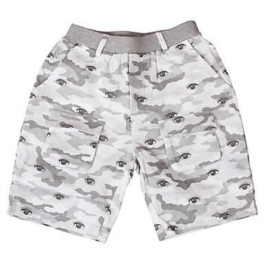 baratos Calças para Meninos-Infantil Para Meninos Básico Estampado Estampado Algodão Shorts Khaki