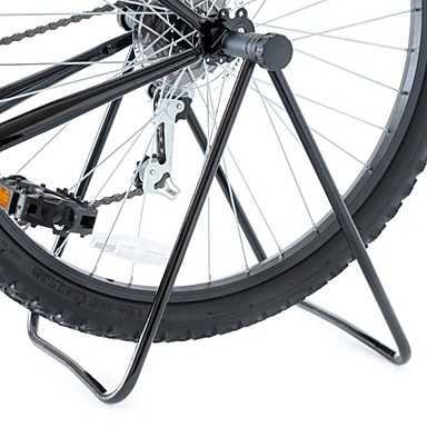 billige Sykkeltilbehør-Trippel sykkelstøtte Sykkelstøtte Sammenleggbar Universell Fleksibel Aluminium Metall Vei Sykkel Fjellsykkel BMX