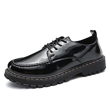 Miesten Muodolliset kengät PU Kevät kesä Oxford-kengät Musta / Viini