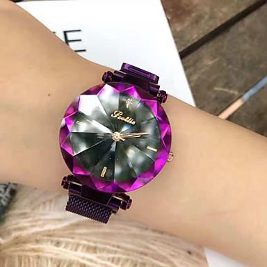 baratos Relógios Senhora-Mulheres Relógio Esportivo Japanês Quartzo Roxa / Azul Piscina Relógio Casual Analógico Brilhante Casual - Roxo Azul / Aço Inoxidável