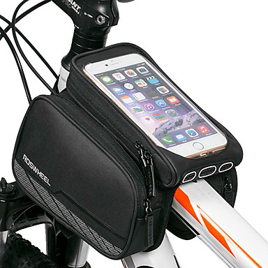 abordables Sacoches de Vélo-ROSWHEEL Sac de téléphone portable Sac Cadre Velo 5.5 pouce Ecran tactile Cyclisme pour iPhone 8 Plus / 7 Plus / 6S Plus / 6 Plus iPhone X iPhone XR Noir Cyclisme / Vélo / iPhone XS / iPhone XS Max