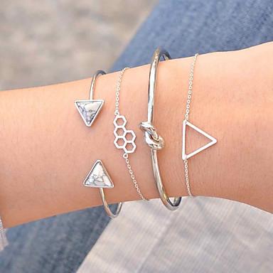 billige Motearmbånd-Dame Armbånd Multi Layer Knute Europeisk Mote Harpiks Armbånd Smykker Gull / Sølv Til Daglig Stevnemøte