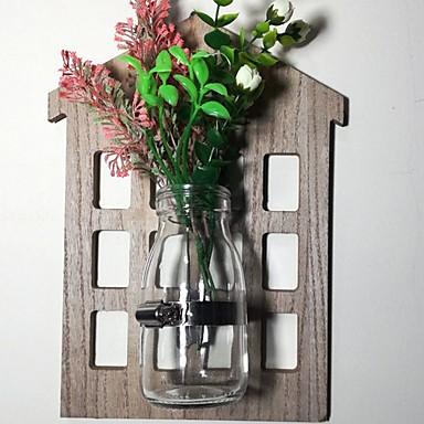 Искусственные Цветы 0 Филиал С креплением на стену Современный современный Ваза Цветы на стену