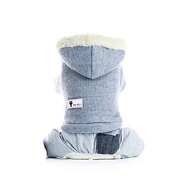 Prodotti Per Cani Cappottini Completi Abbigliamento Per Cani Tinta Unita Grigio Rosa Felpato Costume Per Corgi Beagle Bulldog Autunno Inverno Per Maschio Per Femmina Casual Top Caldi #07182419