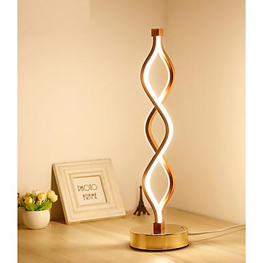 billige Lamper og lampeskjermer-kreativ akryl led bordlampe øye beskytte soverom studielampe varm personlighet moderne enkel bølgekurve kreativ lampe