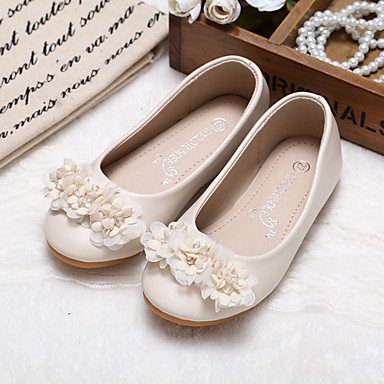 b8d0bd856c04 MRLOTUSNEE® Girls  Shoes Microfiber Spring   Fall Comfort   Flower Girl  Shoes Flats Flower for Kids   Toddler Pink   Ivory   Wedding   Party    Evening