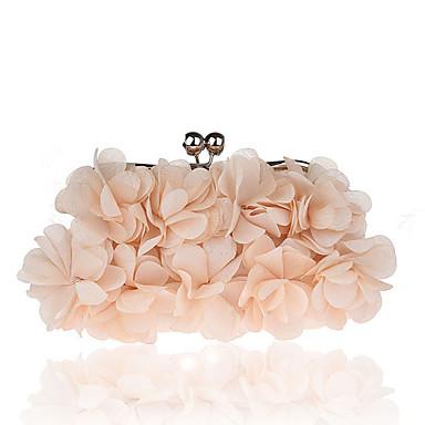 povoljno L.WEST®-Žene Kristalni detalji / Cvijet Večernja torbica Kristalne vrećice od kristalnog kamena Poliester / Legura Cvjetni / Botanički Blushing Pink / Sive boje / Crvena / Jesen zima