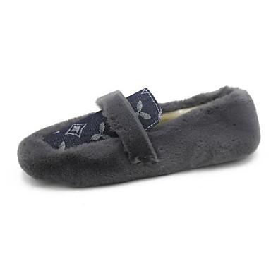 418d1e9326e Women s Faux Fur Fall   Winter Loafers   Slip-Ons Flat Heel Beige   Blue    Khaki