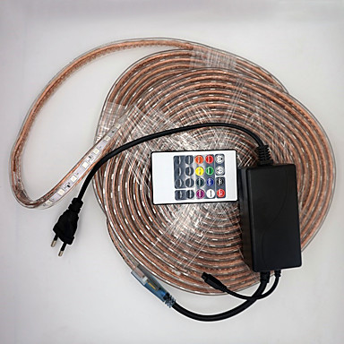 billige LED Strip Lamper-720 LED 5050 SMD RGB Vanntett / Kuttbar 1set