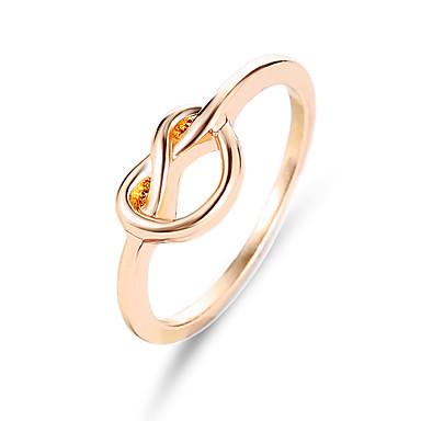 billige Motering-Dame Ring 1pc Gull Sølv Rose Gull Legering Uvanlig Stilfull Unikt design Daglig Smykker Klassisk Venskap Billig