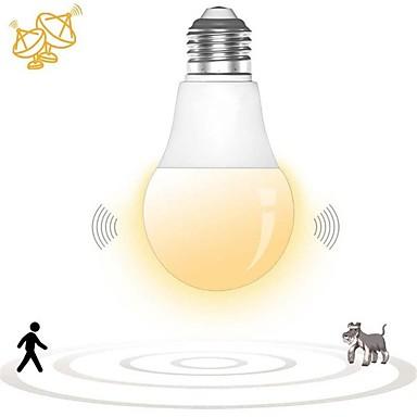 billige LED smartpærer-1pc 7 W Smart LED-lampe 500 lm E26 / E27 14 LED perler SMD 2835 Sensor Smart Dekorativ Hvit 180-240 V / RoHs