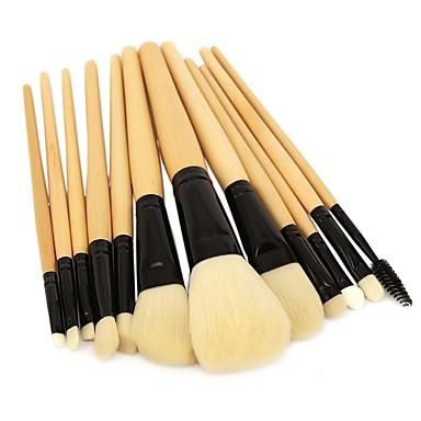 ammattilainen Makeup Harjat 12kpl Ammattilais Pehmeä Täysi kattavuus synteettinen Keinoharjainen sivellin Puinen / bambu varten Rajaussivellin Poskipunasivellin Alusvoidesivellin Meikkiharja