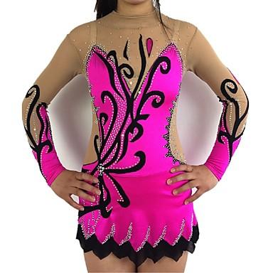 93629d9b370f Rhythmic Gymnastics Leotards Artistic Gymnastics Leotards Women's Girls' Leotard  Lilac Spandex High Elasticity Handmade Shading Long Sleeve Competition ...