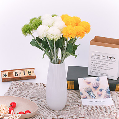 Umělé květiny 1 Větev Klasické Jevištní doplňky Evropský Rostliny Věčné květy Květina na stůl