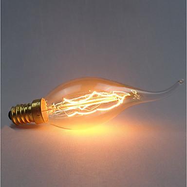 1pc 40 W E14 C35 צהוב גוף שקוף ליטוש וינטג 'אדיסון Light Bulb 220-240 V