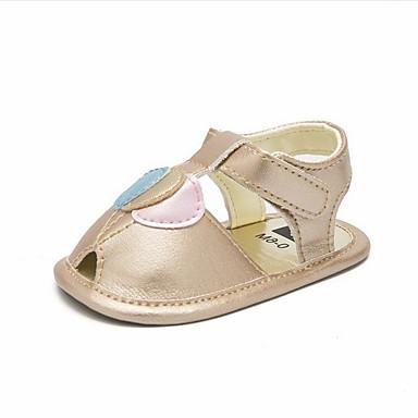baratos Sapatos de Criança-Para Meninas Sintéticos Sandálias Criança (9m-4ys) Primeiros Passos Dourado / Branco Verão