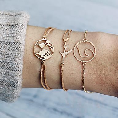abordables Bracelet-Loom Bracelet Bracelet Pendentif Femme Corde Zircon Imitation Diamant Plans Avion simple Branché Mode Bracelet Bijoux Dorée pour Vacances Sortie Travail
