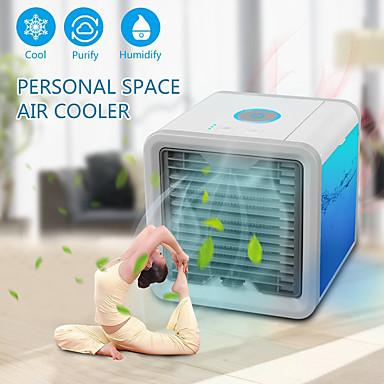 billige Husholdningsartikler-Luftkjølerventilator Luftrenser med USB-porter Plastikker Fra / Til