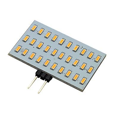 billige Elpærer-1pc 3 W LED-lamper med G-sokkel 250 lm G4 30 LED perler SMD 3014 Varm hvit / 12-24 V / RoHs