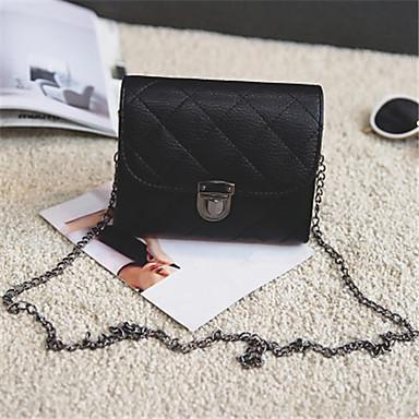 女性用 バッグ PU ショルダーバッグ 純色 ブラック / ルビーレッド / グレー