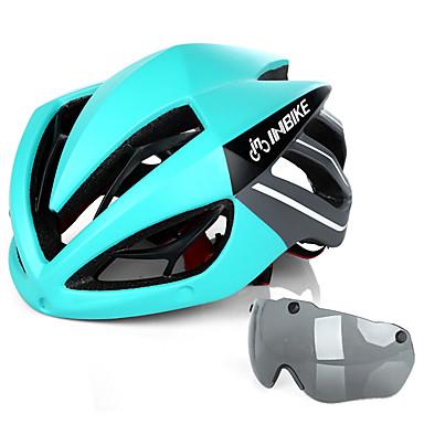 abordables Casques de Cyclisme-INBIKE Adulte Casque de Vélo avec Lunettes de Protection 19 Aération Résistant aux impacts Intégralement moulé EPS PC Des sports Vélo de Route Vélo tout terrain / VTT Cyclisme / Vélo - Noir / Rouge