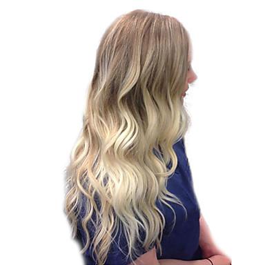 שיער ללא שיער שיער אנושי Body Wave / סלסול קופצני חלק צד עיצוב אופנתי / עיצוב חדש / מגניב צבעים מרובים ארוך ללא מכסה פאה בגדי ריקוד נשים / שיער אומבר