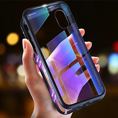 hesapli iPhone Kılıfları-Pouzdro Uyumluluk Apple iPhone XS / iPhone XR / iPhone XS Max Ultra İnce / Şeffaf / Manyetik Tam Kaplama Kılıf Solid Sert Temperli Cam / Metal