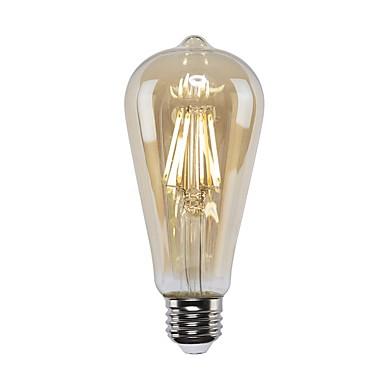 billige Elpærer-1pc 4 W LED-glødepærer 360 lm E26 / E27 ST64 4 LED perler COB Mulighet for demping Varm hvit 220-240 V 110-130 V