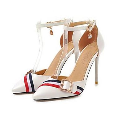 povoljno Ženske cipele-Žene PU Ljeto Cipele na petu Stiletto potpetica Krakova Toe Obala / Crn / Pink