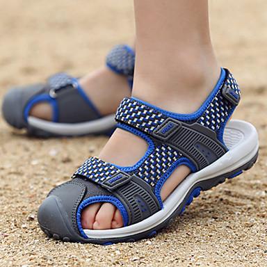 baratos Sapatos de Criança-Para Meninos Jeans Sandálias Little Kids (4-7 anos) / Big Kids (7 anos +) Conforto Cinzento / Verde / Azul Verão / Outono / Estampa Colorida / Borracha