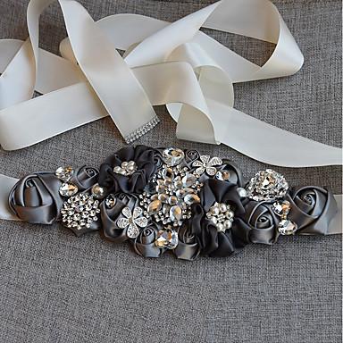 abordables Foulards de Soirée-Satinette Mariage Ceinture Avec Strass / Perle fausse / Fleur Femme Ceintures